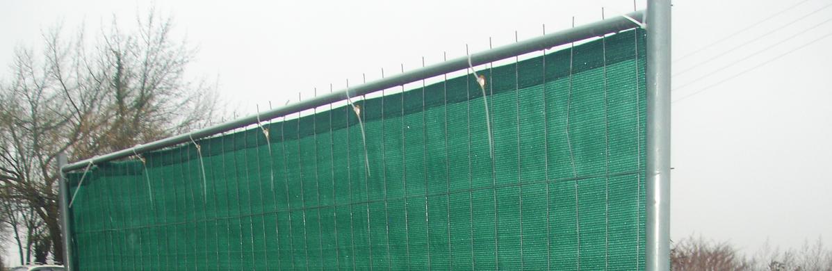 Pochettes et filets barrières de chantier