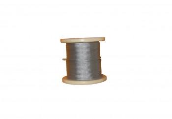 Câble acier galvanisé Ø 2mm - Bobine de 100m